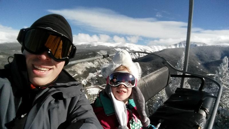 Jason on ski trip with daughter