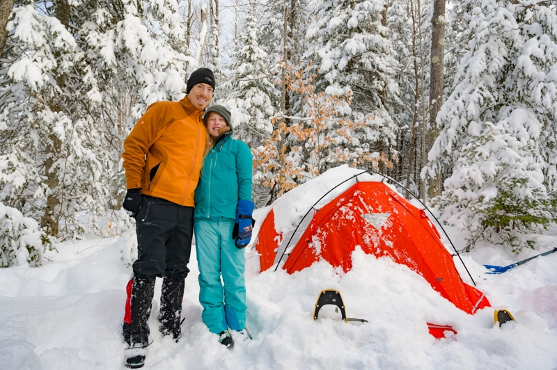 Jason and daughter winter backpacking